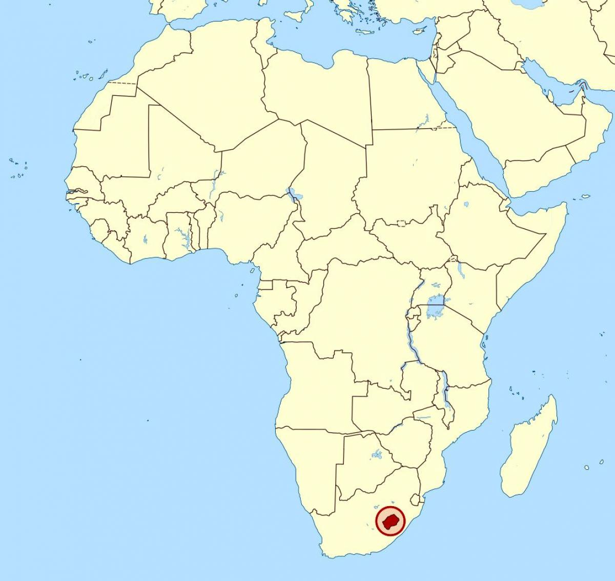 Lesotho Africa Map Lesotho In Africa Map Southern Africa Africa