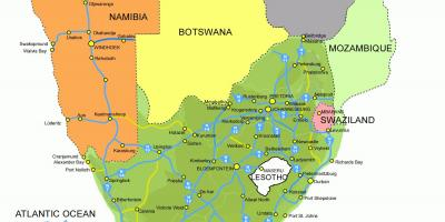 Map of Lesotho and south africa