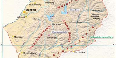Lesotho map pictures